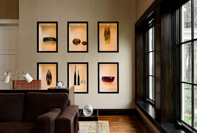 Красивый дизайн ниши в стене