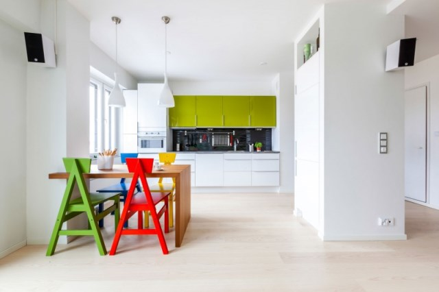 перепланировка квартиры - гостиная совмещенная с кухней
