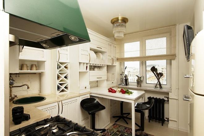 Пример удачной планировки кухни 6 метров