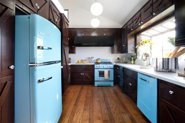 Ретро интерьер кухни