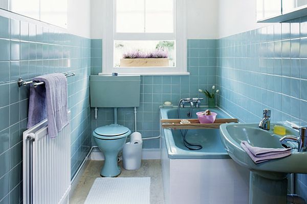 Ретро интерьер ванной комнаты