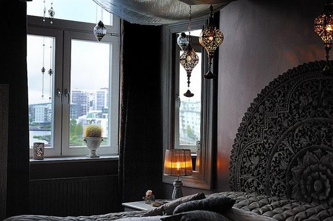 интерьер спальни роскошной квартиры
