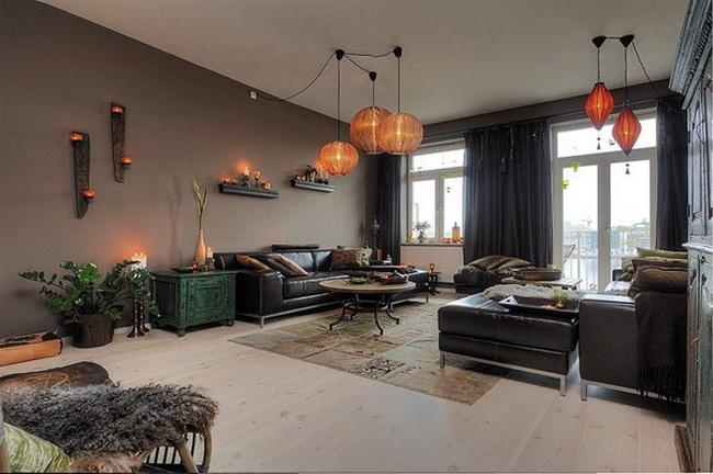 роскошная квартира - интерьер гостиной