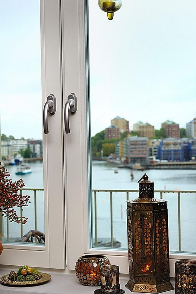 роскошная квартира - вид из окна