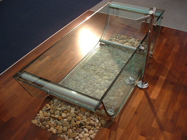Стеклянная ванна prizma glass