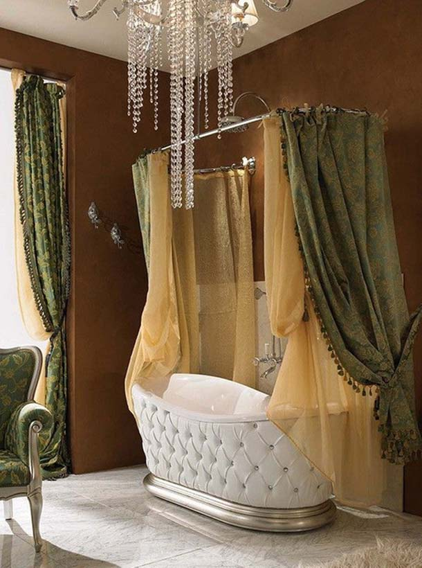 красивая ванная в стиле барокко