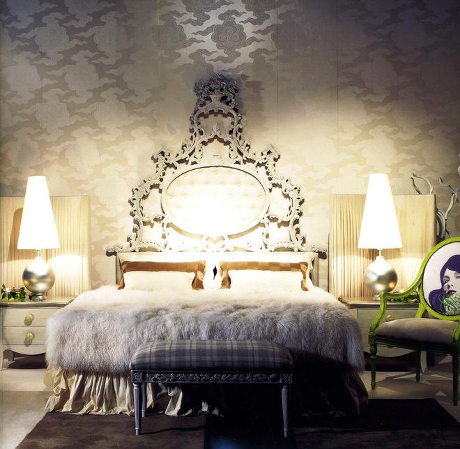 барокко в интерьере спален