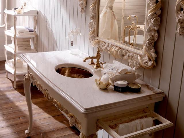 интерьер ванной барокко