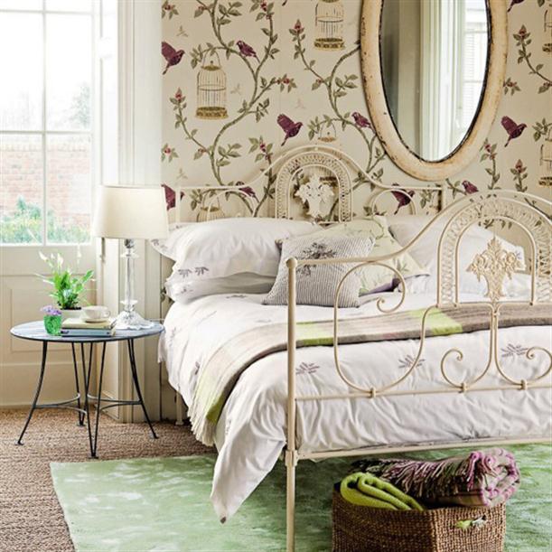 Спальня винтажном стиле