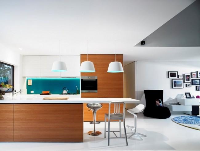 двухкомнатная квартира - кухня совмещенная с гостиной