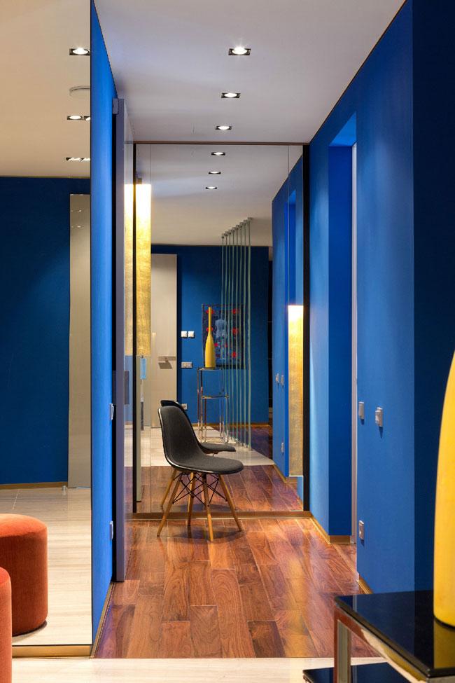 Интерьер квартиры в синем цвете