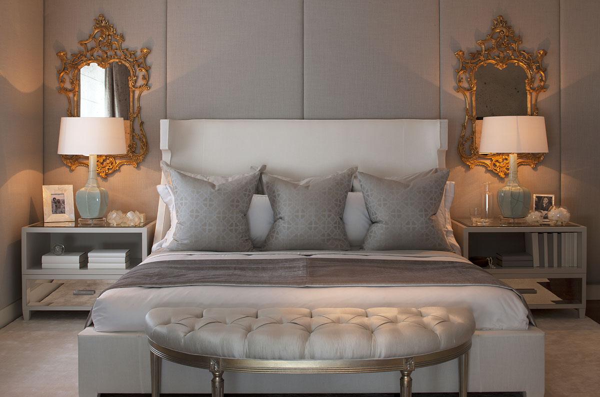 Интерьер четырехкомнатной квартиры - спальня