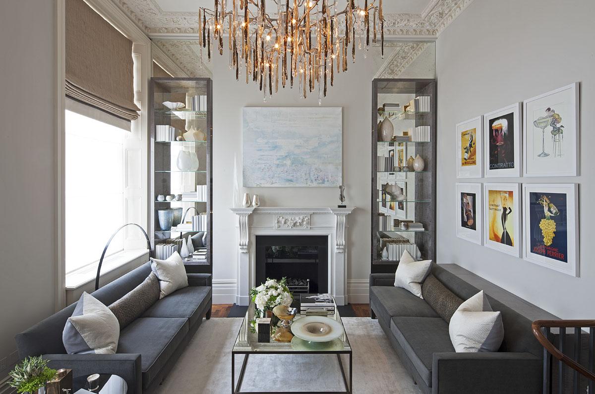 Интерьер четырехкомнатной квартиры - гостиная