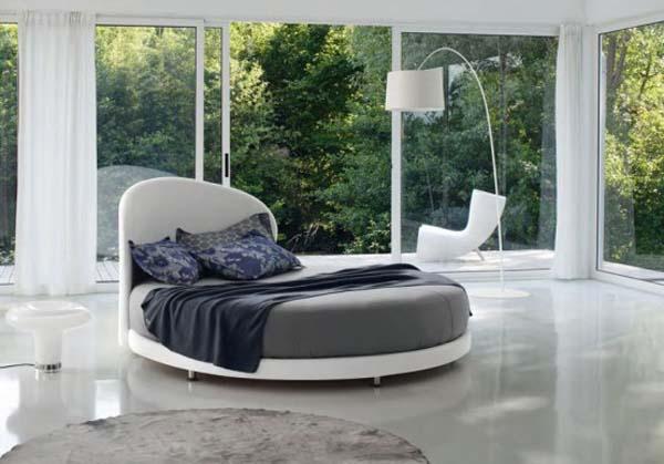 Круглая кровать – изюминка (11)