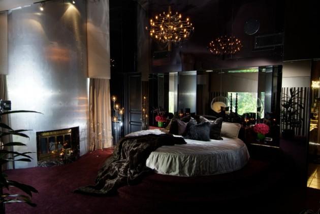 Круглая кровать – изюминка (13)