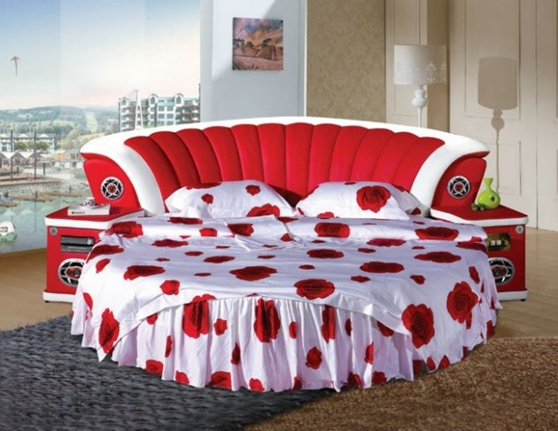 Круглая кровать – изюминка (16)