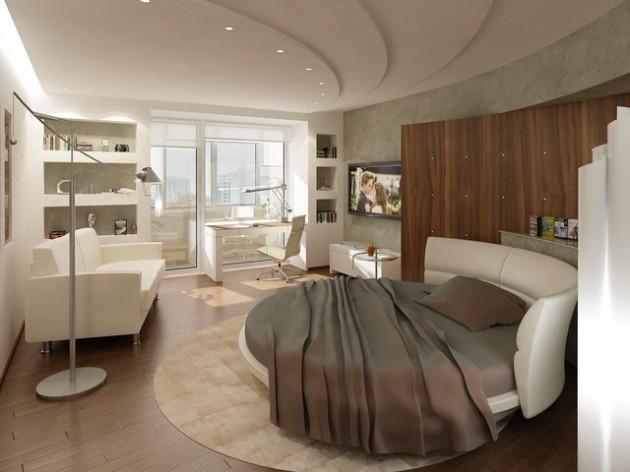 круглая кровать фото 1