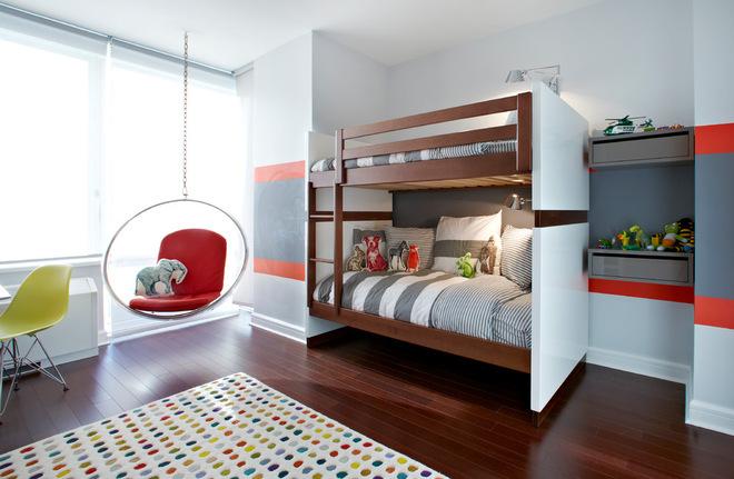Спальня с подвесным креслом 11