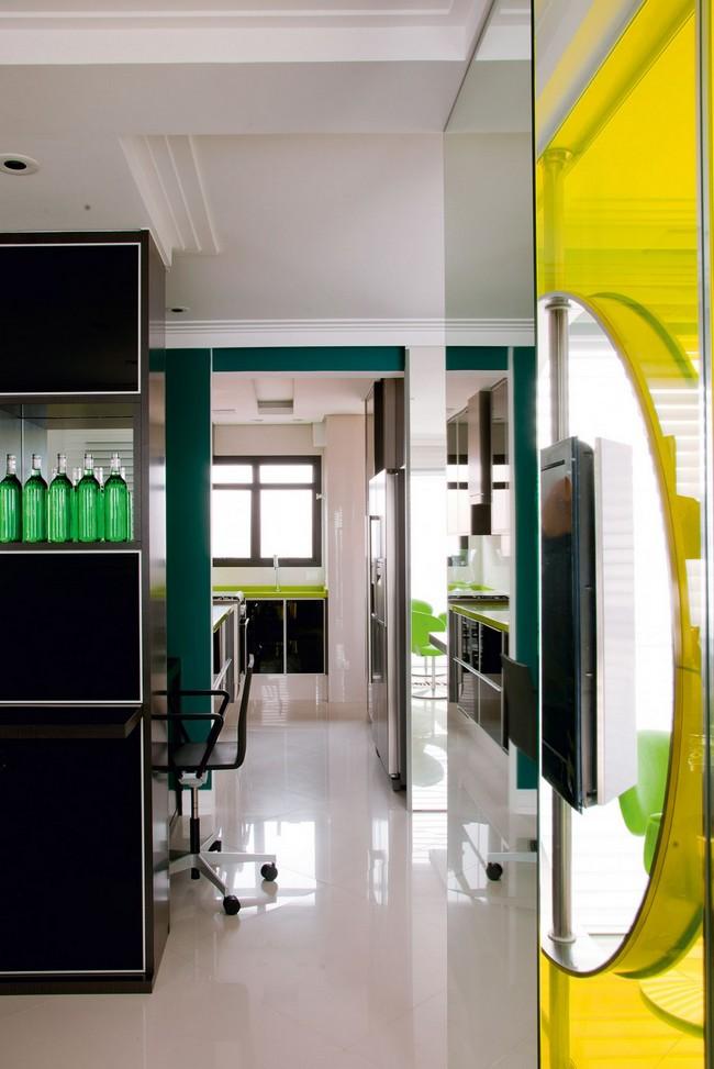 Стильная квартира - вход на кухню