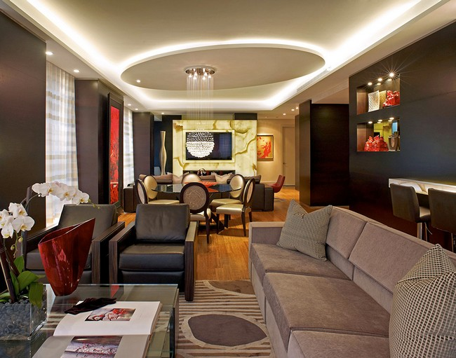 Красивая квартира - фото гостиной