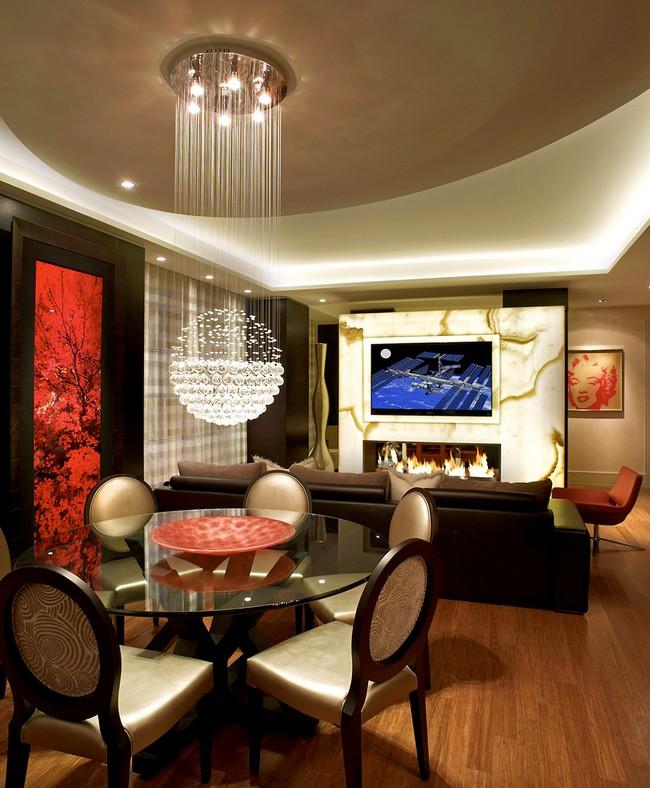 Красивая квартира - освещение гостиной