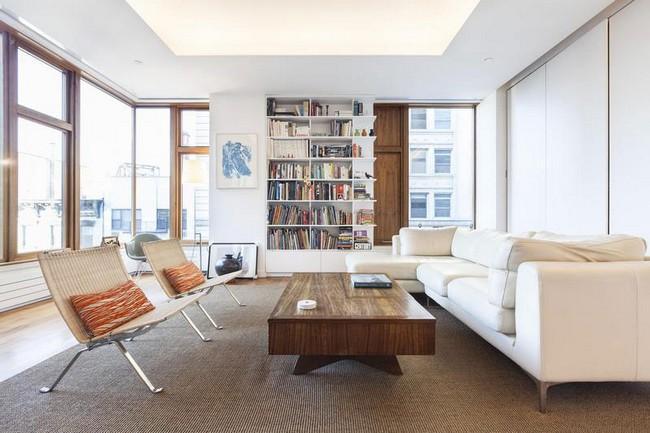 Интерьер элегантной квартиры в Сохо - гостиная