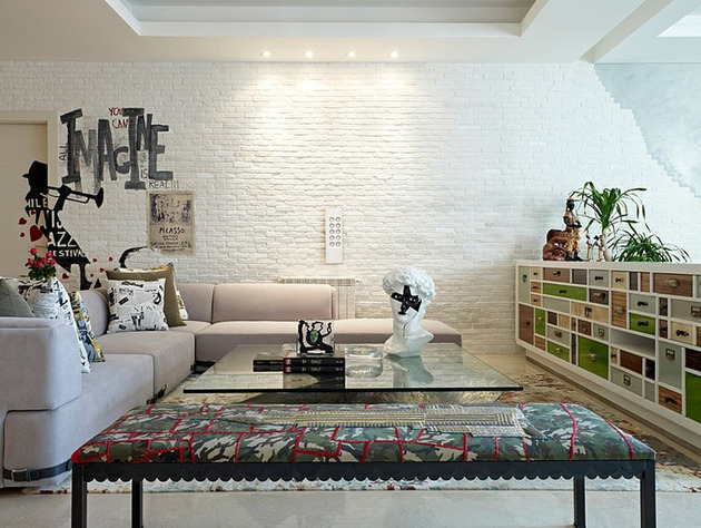 проект квартиры - гостиная