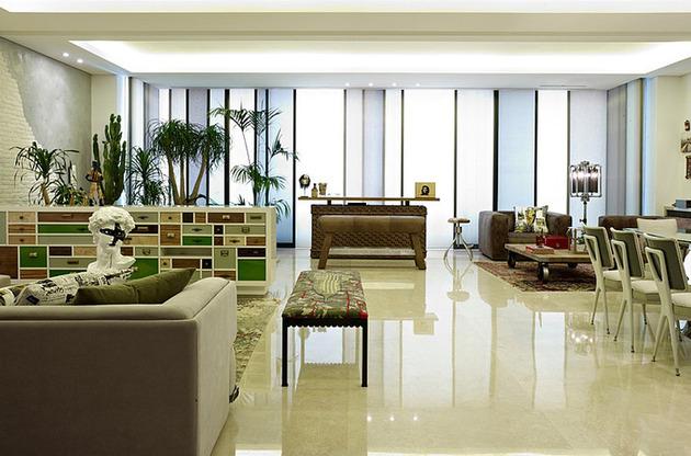 проект квартиры - планировка гостиной