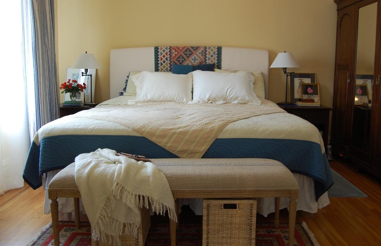 дизайн спальни осенью