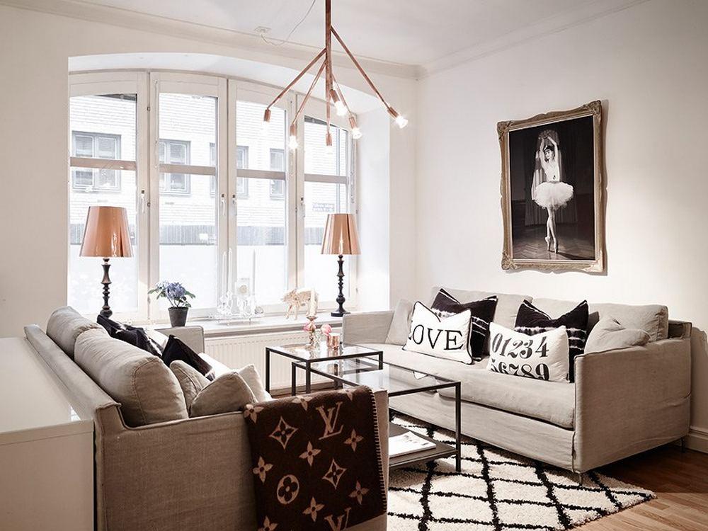 проект двухкомнатной квартиры - освещение