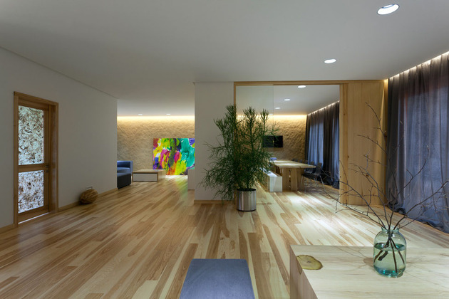 Эко интерьер квартиры с открытой планировкой (1)