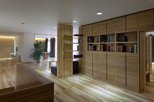 Эко интерьер квартиры с открытой планировкой (11)