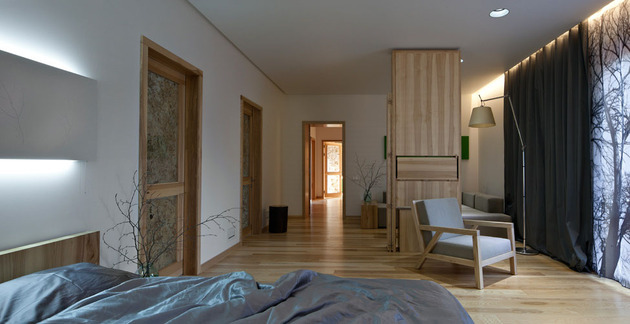 Эко интерьер квартиры с открытой планировкой (16)