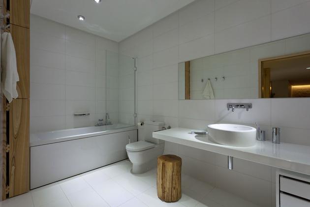 Эко интерьер квартиры с открытой планировкой (17)