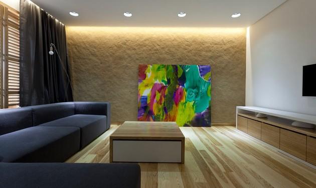 Эко интерьер квартиры с открытой планировкой (2)