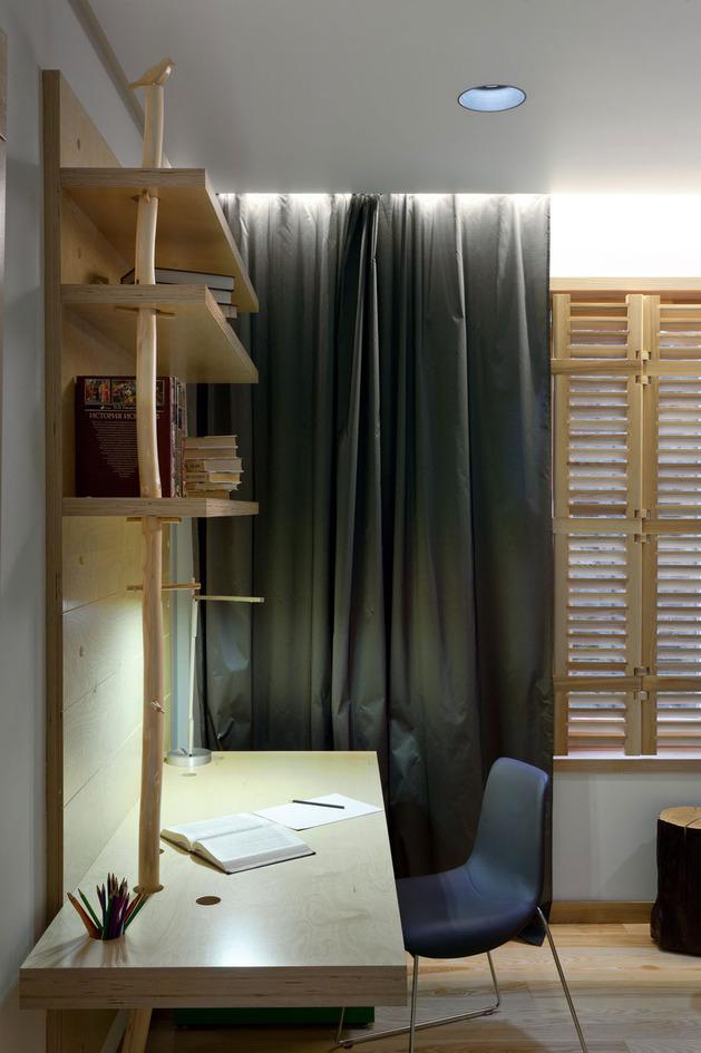 Эко интерьер квартиры с открытой планировкой (20)