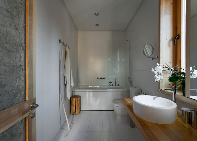 Эко интерьер квартиры с открытой планировкой (23)