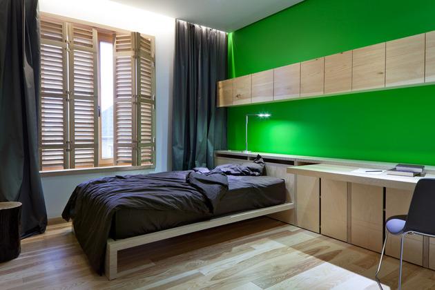 Эко интерьер квартиры с открытой планировкой (24)
