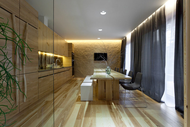 Эко интерьер квартиры с открытой планировкой (4)