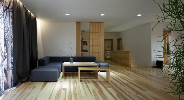 Эко интерьер квартиры с открытой планировкой (9)
