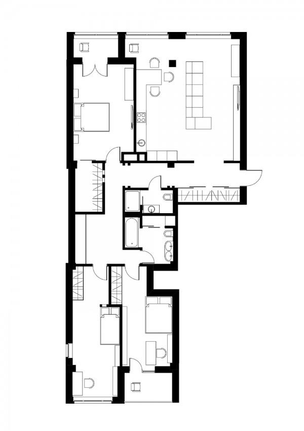 Просторная трехкомнатная квартира (20)
