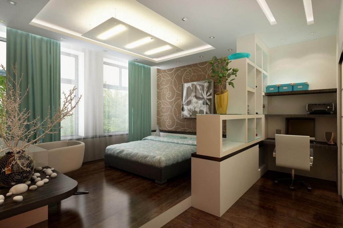 Зонирование комнаты. новый взгляд на привычные вещи интерьер.
