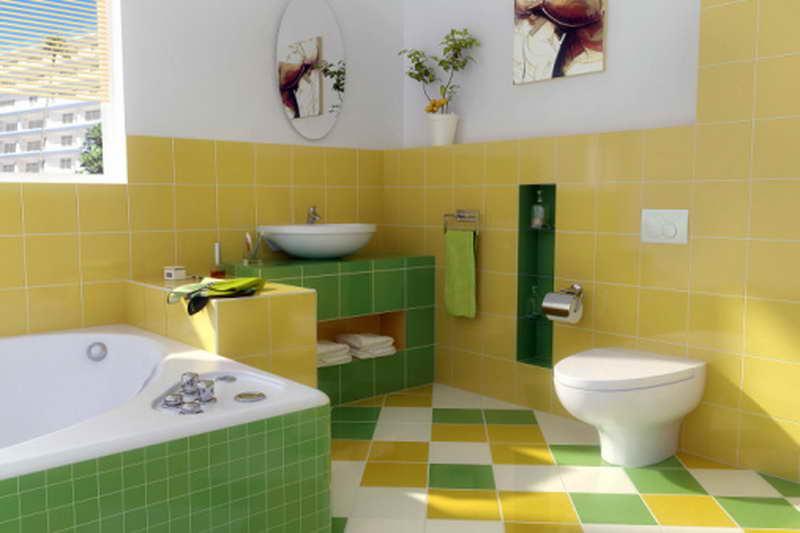 сочетание цветов плитки в ванной комнате фото