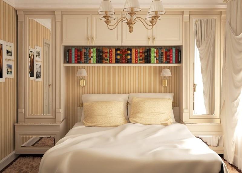 Планировка небольшой спальни - фото