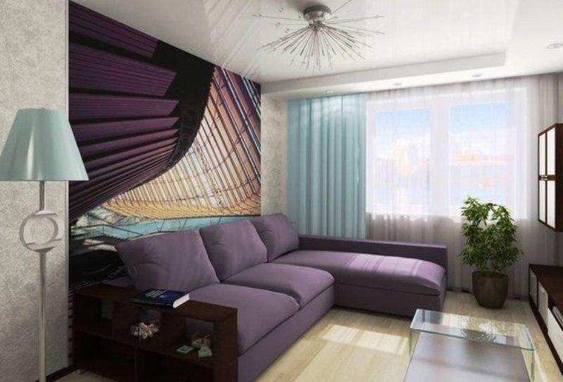 Небольшая спальня с диваном - фото
