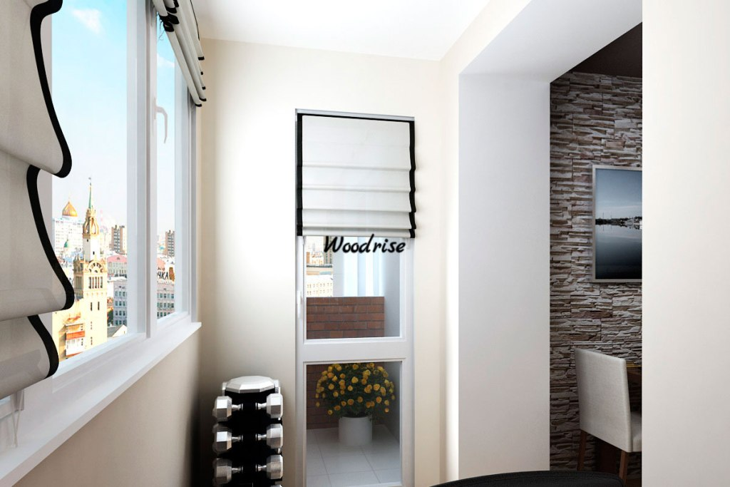 Оригинальная отделка балконов внутри и снаружи интерьерные ш.