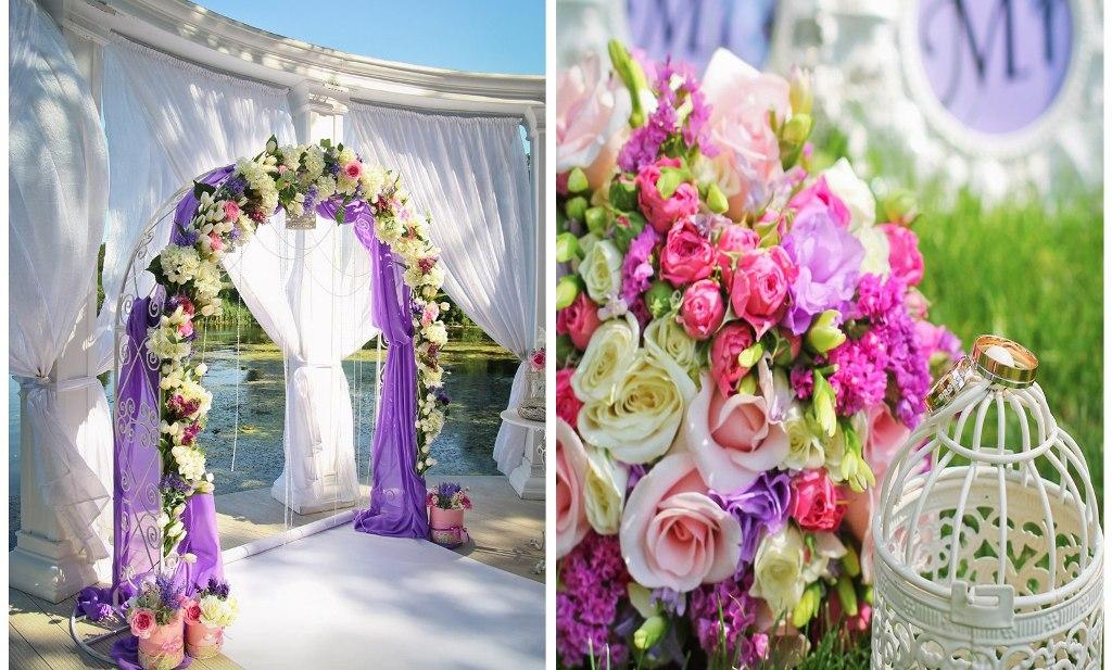 Искусственные цветы для украшения свадьбы