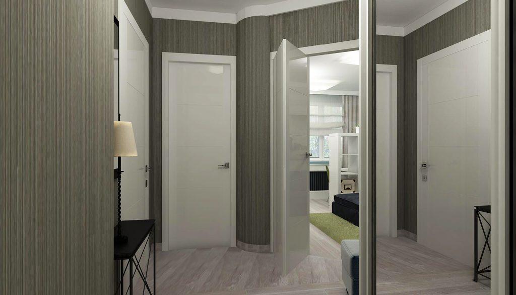 Белая дверь в интерьере квартиры