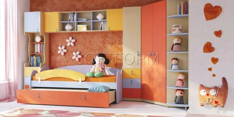 детская модульная мебель для девочек и мальчиков Мия, Фабрики SOFTFORM