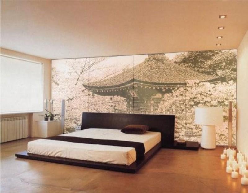 Дизайн стен в спальне фото